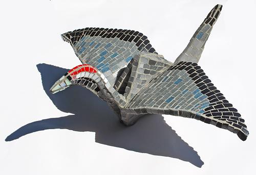 origami mosaic crane