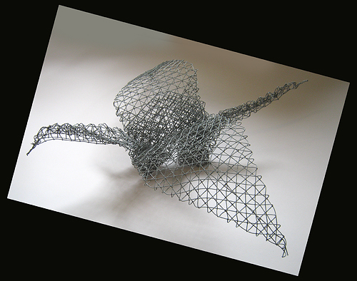 wire mesh crane structure