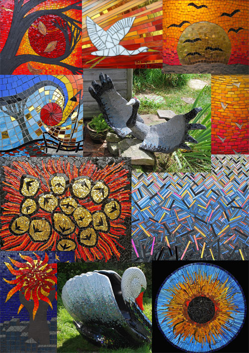 2012 mosaics by Kate Rattray