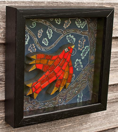 Red Folk Bird