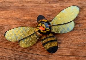 Bah Humbug bee brooch