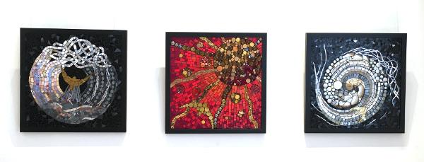 three sold mosaics