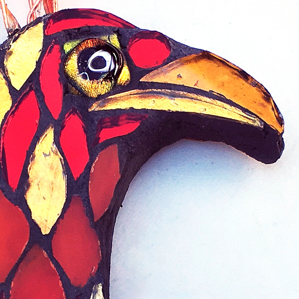 detail of Phoenix head